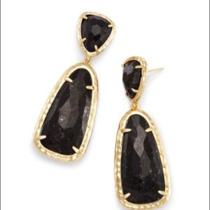 Kendra Scott Daria Statement Earring black granite